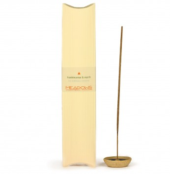 Frankincense & Myrrh Fragranced Incense Agarbatti (Meadows Aroma) 25 Pack