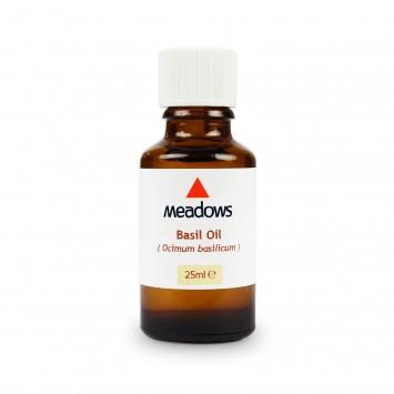 Basil (Methyl Chavicol Type) Essential Oil (Meadows Aroma) 25ml