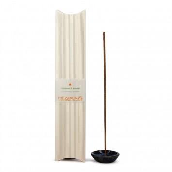 Cinnamon & Orange Fragranced Incense Agarbatti (Meadows Aroma) 25 Pack