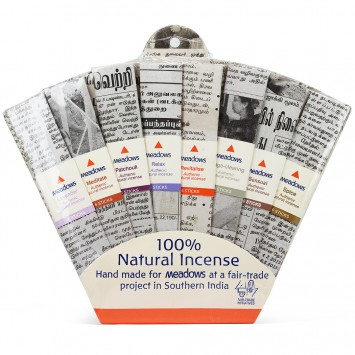 Mini Natural Incense Sticks Fan Pack (Meadows Aroma) 8x6