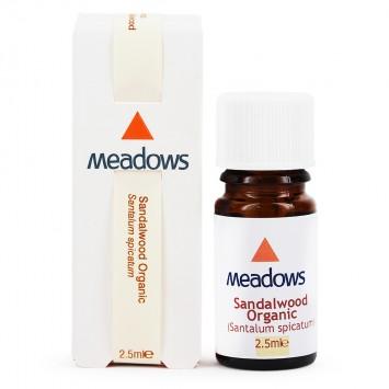 Organic Sandalwood Essential Oil (Meadows Aroma) 2.5ml