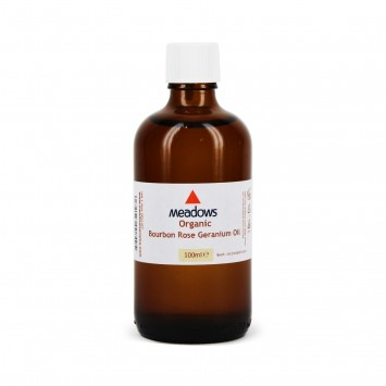 Organic Geranium Bourbon Essential Oil (Meadows Aroma) 100ml