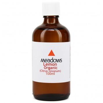 Organic Lemon Essential Oil (Meadows Aroma) 100ml