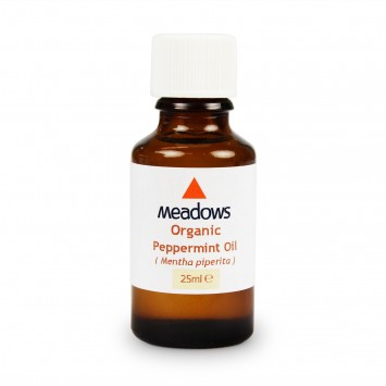 Organic Peppermint Essential Oil (Meadows Aroma) 25ml