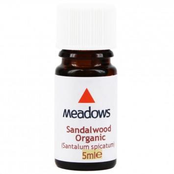 Organic Sandalwood Essential Oil (Meadows Aroma) 5ml
