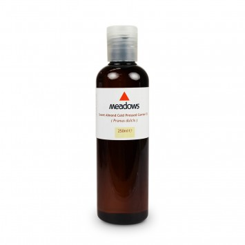 Organic Sweet Almond Cold Pressed Carrier Oil (Meadows Aroma) 250ml