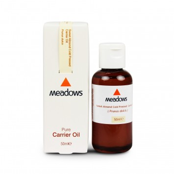 Organic Sweet Almond Cold Pressed Carrier Oil (Meadows Aroma) 50ml