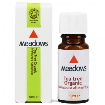 Organic Tea Tree Essential Oil (Meadows Aroma) 10ml