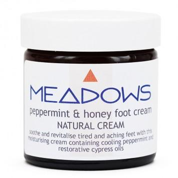 Peppermint & Honey Natural Foot Cream (Meadows Aroma) 60ml
