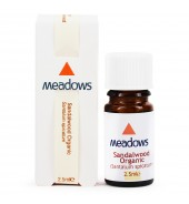 Organic Sandalwood Essential Oil (Meadows Aroma) 2.5ml
