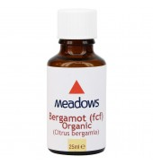 Organic Bergamot (F.C.F.) Essential Oil (Meadows Aroma) 25ml
