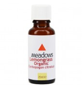 Organic Lemongrass Essential Oil (Meadows Aroma) 25ml