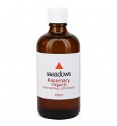 Organic Rosemary Essential Oil (Meadows Aroma) 100ml
