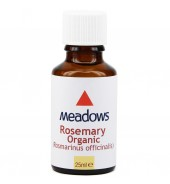 Organic Rosemary Essential Oil (Meadows Aroma) 25ml