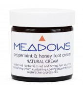 Peppermint & Honey Natural Foot Cream (Meadows Aroma) 60ml